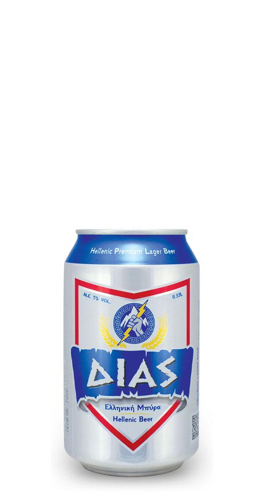 Δίας ελληνική μπύρα Alc. 5% Vol. – 0.33L