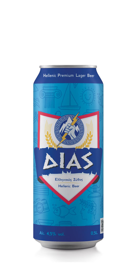 Δίας ελληνική μπύρα Alc. 4.5% Vol. – 0.5L