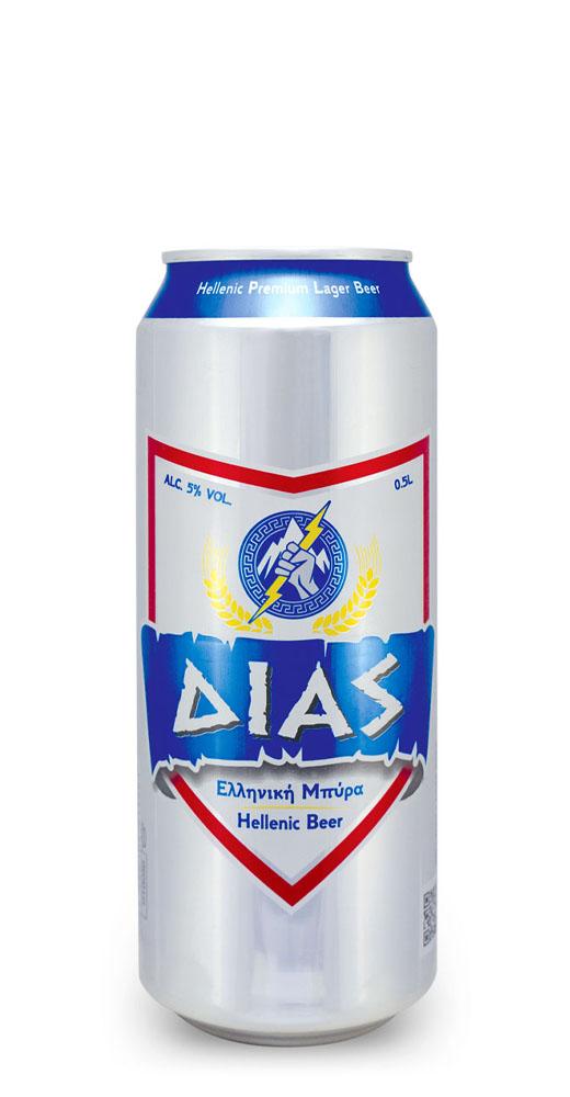 Δίας ελληνική μπύρα Alc. 5% Vol. – 0.5L