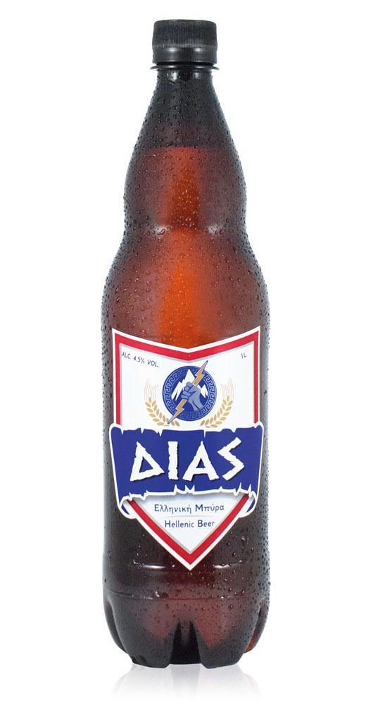 Δίας ελληνική μπύρα Alc. 5% Vol. – 1L