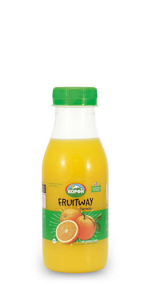 Fruitway 100% Φυσικός χυμός πορτοκάλι 330ml