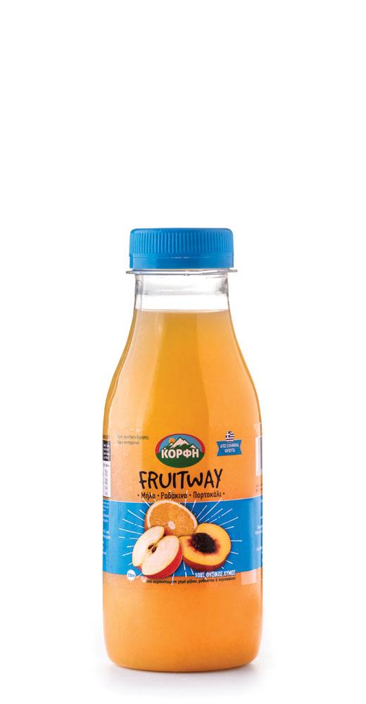 Fruitway 100% Natural juice apple, peach, orange 330ml