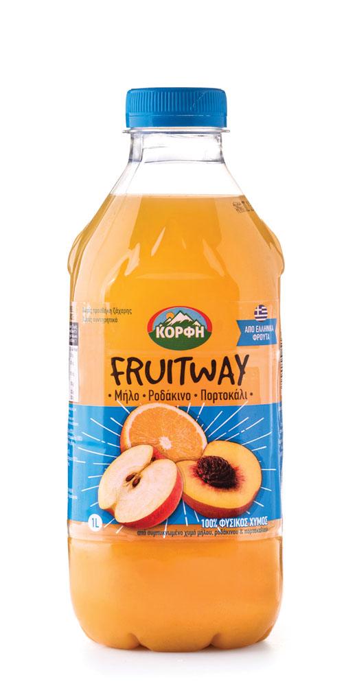 Fruitway 100% Natural juice apple, peach, orange 1L